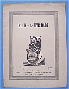 Sheet Music For 1933 Rock-a-bye Baby