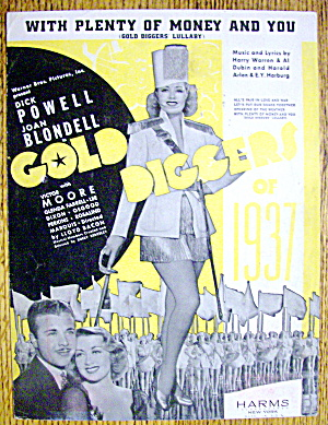Sheet Music For 1936 With Plenty Of Money And You (Image1)
