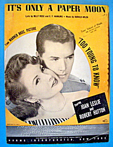 1933 It's Only A Paper Moon-joan Leslie & Robert Hutton