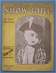 Sheet Music For 1928 She's One Sweet Show Girl (Image1)