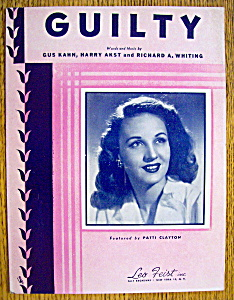 Sheet Music For 1946 Guilty (Patti Clayton)