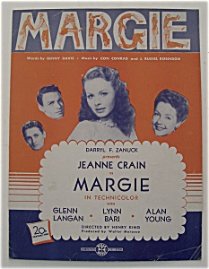 Sheet Music For 1920 Margie