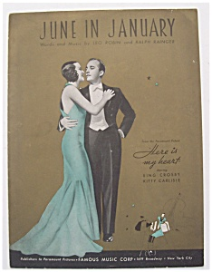 Sheet Music For 1934 June In January