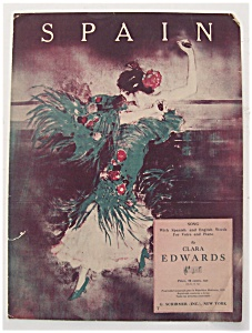 Sheet Music For 1929 Spain