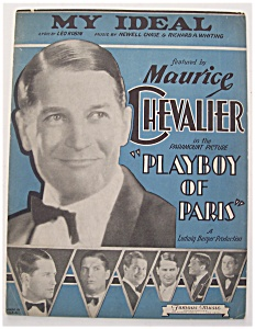 Sheet Music For 1930 My Ideal (Maurice Chevalier Cover)