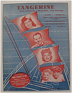 Sheet Music For 1942 Tangerine