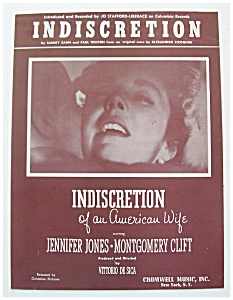 Sheet Music For 1954 Indiscretion