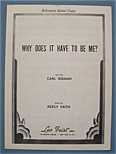 Sheet Music For 1953 Why Does It Have To Be Me?