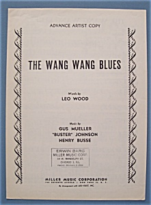 Sheet Music For 1949 The Wang Wang Blues