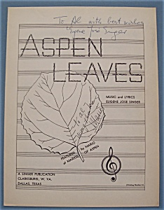 Sheet Music For 1940's Aspen Leaves