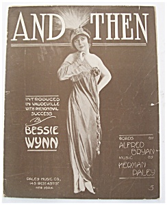 Sheet Music For 1913 And Then