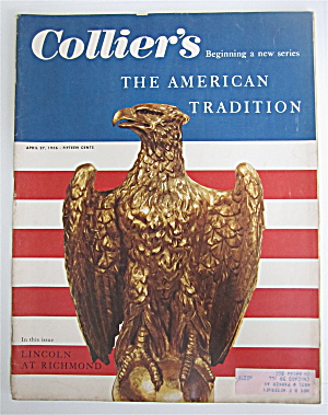 Collier's Magazine April 27, 1956 Lincoln At Richmond