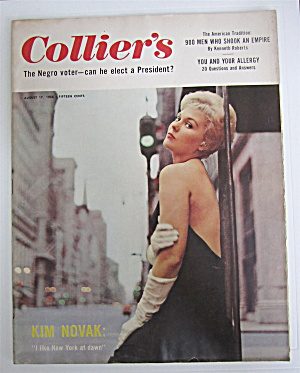 Collier's Magazine August 17, 1956 Kim Novak