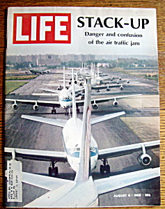 Life Magazine-august 9, 1968-stack Up (Air Traffic Jam)