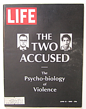 Life Magazine June 21, 1968 The Two Accused Ray/sirhan
