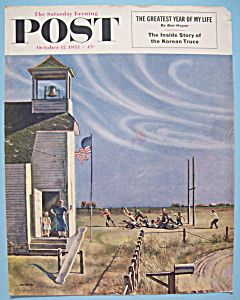 Saturday Evening Post Cover -Oct 17, 1953- John Falter (Image1)