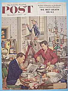 Saturday Evening Post Cover-dec 5, 1953-stevan Dohanos