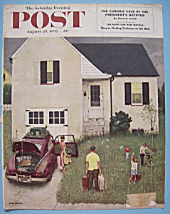 Saturday Evening Post Cover-aug 23, 1952-john Falter