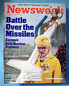 Newsweek Magazine-october 24, 1983-british Demonstrator
