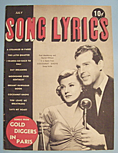 Song Lyrics - July 1938 - F. Macmurray & H. Hilliard