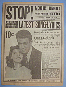 Latest Song - Lyrics - 1941 - P. Goddard & J. Stewart