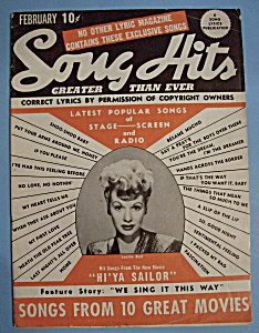Song Hits - February 1944 - Lucille Ball (Image1)