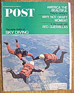 Saturday Evening Post Magazine-June 18, 1966-Sky Diving (Image1)
