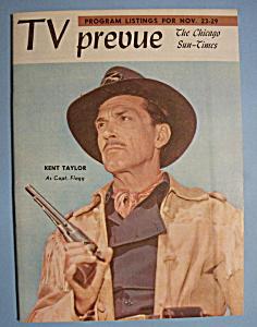 TV Prevue - November 23-29, 1958 - Kent Taylor (Image1)