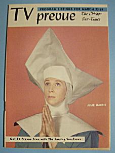TV Prevue - March 23-29, 1958 - Julie Harris (Image1)