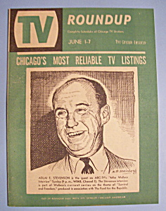 Tv Roundup - June 1-7, 1958 - Adlai Stevenson
