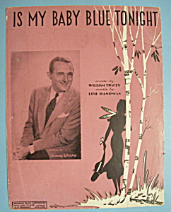 Sheet Music For 1943 Is My Baby Blue Tonight (Image1)