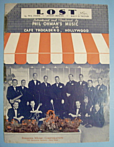 Sheet Music For 1936 Lost (Image1)