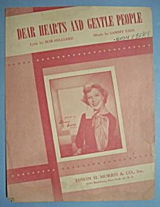 Sheet Music For 1949 Dear Hearts And Gentle People (Image1)