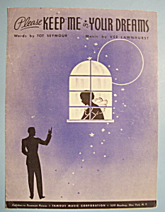 Sheet Music For 1933 Please Keep Me In Your Dreams (Image1)