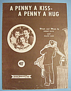Sheet Music For 1950 A Penny A Kiss-A Penny A Hug (Image1)