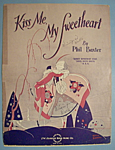 Sheet Music For 1930 Kiss Me, My Sweetheart (Image1)