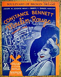 Sheet Music For 1933 Boulevard Of Broken Dreams (Image1)