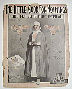 Sheet Music For 1918 The Little Good For Nothings