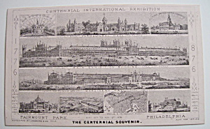 1876 Centennial Exhibition Trade Card - Philadelphia (Image1)