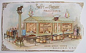 1893 Columbian Exposition Swift & Co. Trade Card (Image1)
