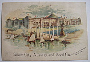 1893 Columbian Exposition Sioux City Trade Card (Image1)
