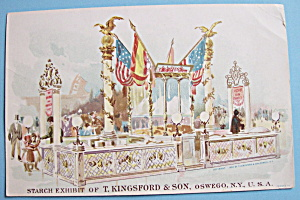 1893 Columbian Expo Kingsford's Starch Trade Card (Image1)