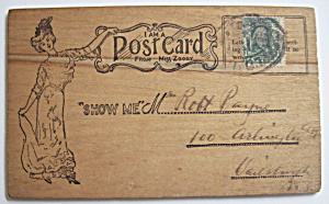 1904 St. Louis World's Fair - Wooden Postcard