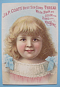 1893 Columbian Exposition J & P Coats Trade Card (Image1)