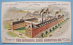 1893 Columbian Expo National Cash Register Trade Card (Image1)