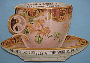 1893 Columbian Expo Chase & Sanborn Coffee Trade Card (Image1)