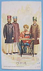 1893 Columbian Exposition Singer Trade Card (India) (Image1)