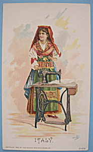 1893 Columbian Exposition Singer Trade Card-(Naples) (Image1)