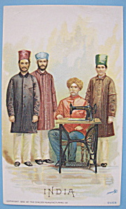 1893 Columbian Exposition Singer Trade Card-(India) (Image1)