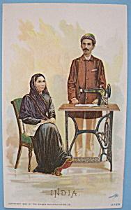 1893 Columbian Exposition Singer Trade Card-Native Emp. (Image1)
